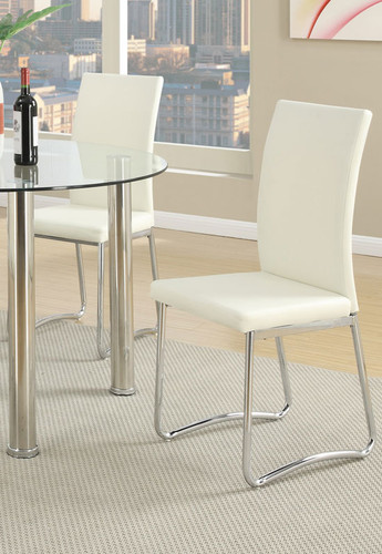 WHITE MODERN DINING CHAIR 2 PCS SET-F1438/1