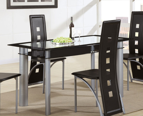 RECTANGULAR TEMPERED GLASS DINING TABLE-F2212