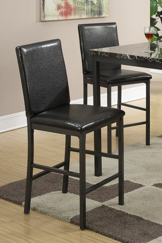 BLACK COUNTER HEIGHT CHAIR 2 PCS SET-F1016