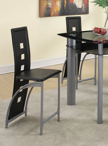 LEATHERETTE COUNTER HEIGHT CHAIR 2 PCS SET-F1222