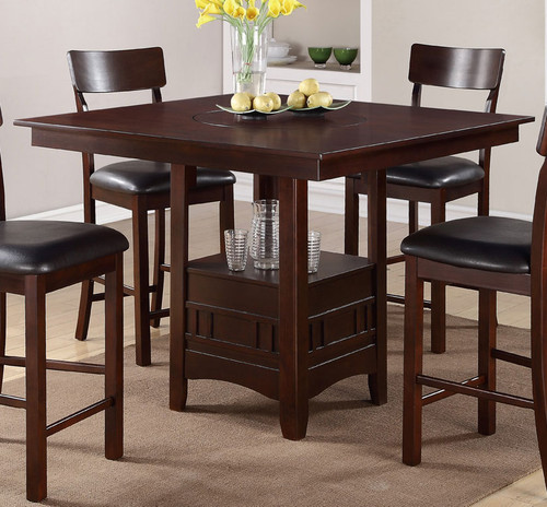 DARK ROSY BROWN COUNTER HEIGHT TABLE-F2346