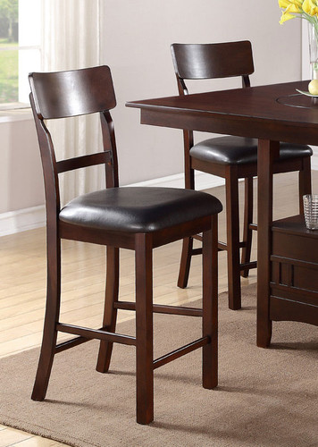 ROSY BROWN COUNTER HEIGHT CHAIR 2 PCS SET-F1207/R