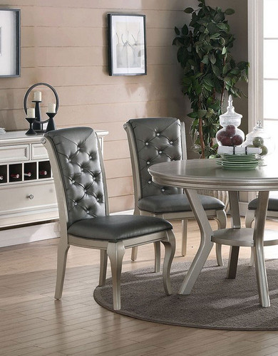 LAVISH STYLE FORMAL CHAIR 2 PCS SET-F1540/S