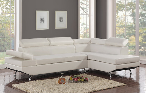 MODERNO CONTEMPORARY SECTIONAL WHITE-Moderno - White