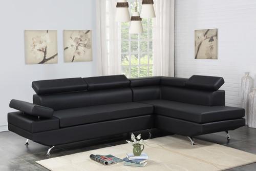 MODERNO CONTEMPORARY SECTIONAL BLACK-Moderno - Black