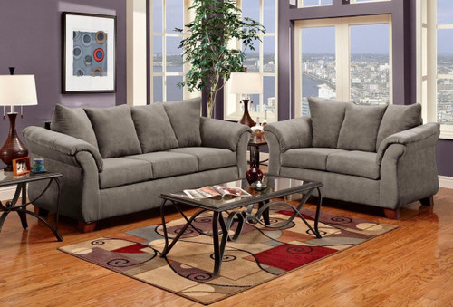 2PC LUCY SOFA AND LOVESEAT IN GRAPHITE-2000-Graphite