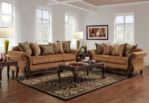 WASHINGTON SOFA AND LOVESEAT 2PCS SET-7680