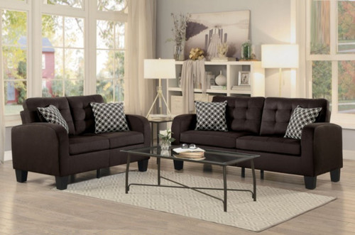 2PC SINCLAIR SOFA AND LOVESEAT IN CHOCOLATE