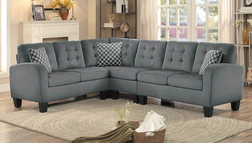 SINCLAIR  REVERSIBLE SECTIONAL IN GRAY FABRIC