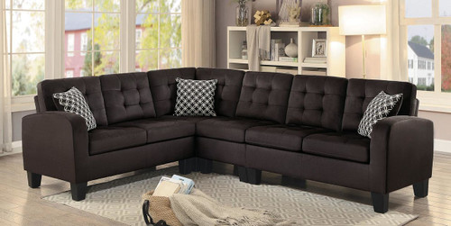 SINCLAIR REVERSIBLE SECTIONAL IN CHOCOLATE