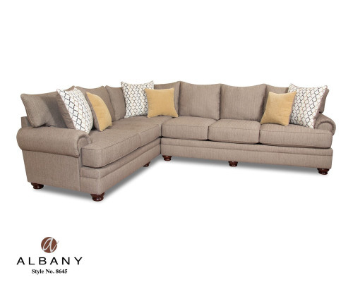 ALBANY SECTIONAL ESSENCE PEWTER SOFA SET-8645- Essence Pewter