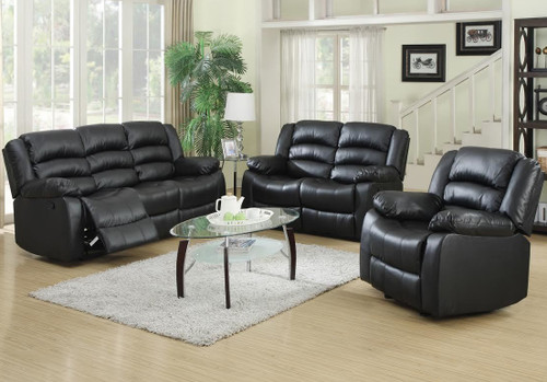 DYNAMO BLACK ROCKER SOFA AND LOVESEAT 3PCS SET-Dynamo-Black