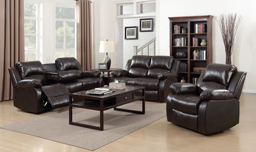 ASTROS BLACK ROCKER RECLINER SOFA AND LOVESEAT 3PCS SET-Astros-black