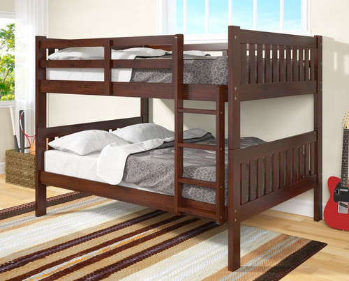 ESPRESSO FULL OVER FULL BUNK BED-1015