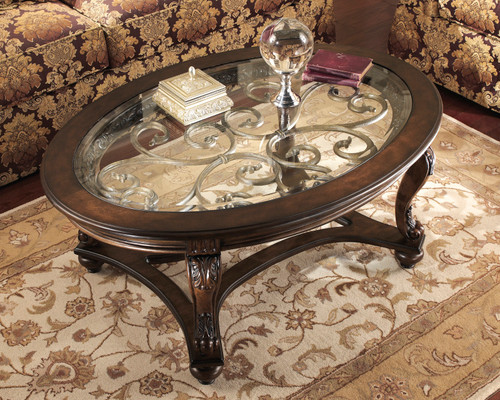 GABRIELE GLASS TOP COFFEE TABLE-T499