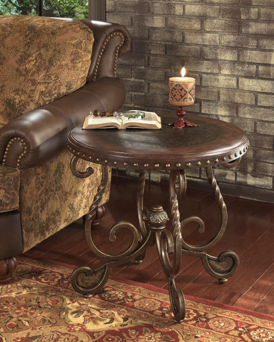 MATTEO BROWN END TABLE-T382-END