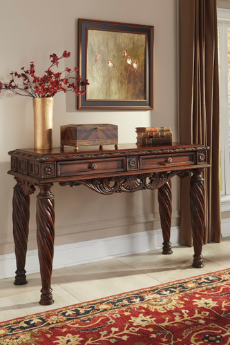 CHRISTOPHER WOODEN SOFA TABLE-T963-SOFA