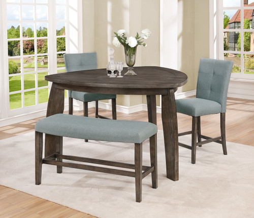 HOLLIS TRIANGLE COUNTER HEIGHT TABLE 4 PCS SET-2718
