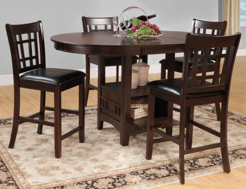 JUNIPERO ROUND COUNTER HEIGHT TABLE 5 PCS SET-2423