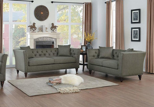 MARCEAU COLLECTION SOFA AND LOVE SEAT 2 PCS SET-8224DG