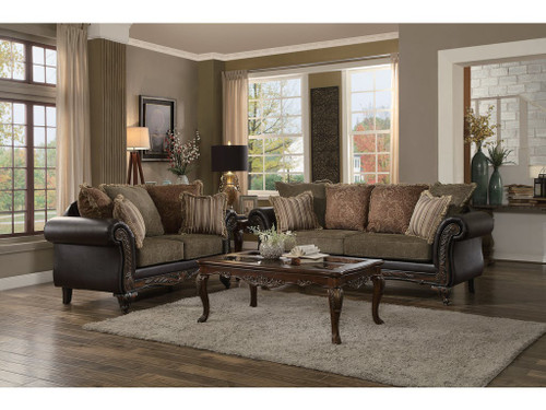 THIBODAUX COLLECTION SOFA AND LOVE SEAT 2 PCS SET-8233TT