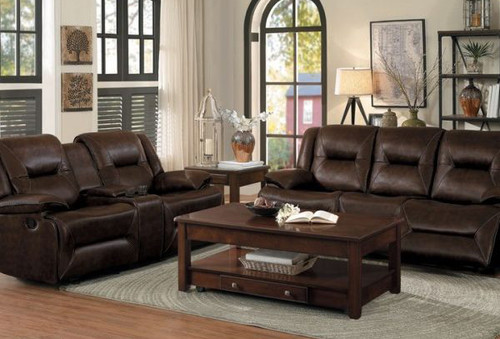 OKELLO RECLINING SOFA AND LOVE SEAT 2 PCS SET-8370BRW