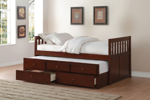ROWE TWIN BED WITH TRUNDLE AND STORAGE DRAWERS