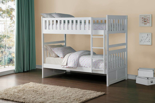 GALEN TWIN OVER TWIN BUNK BED WHITE-B2053W