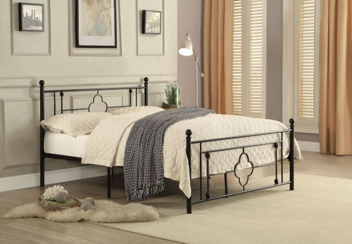 MORRIS COLLECTION METAL PLATFORM BED
