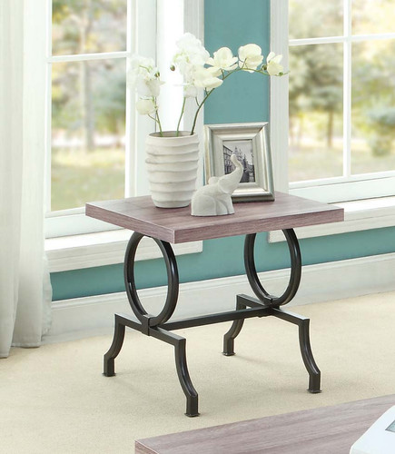 CHAMA FAUX WOOD TOP END TABLE -5469