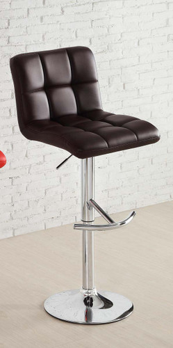 RIDE BROWN LEATHER SWIVEL STOOL 2 PCS SET-1157BRW