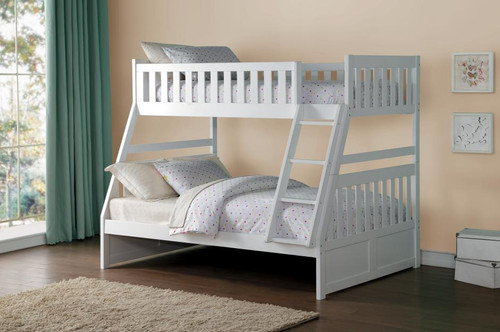 GALEN TWIN OVER FULL BUNK BED WHITE