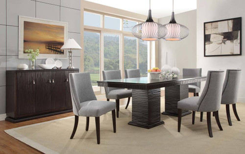CHICAGO COLLECTION DINING TABLE 5 PCS SET-2588