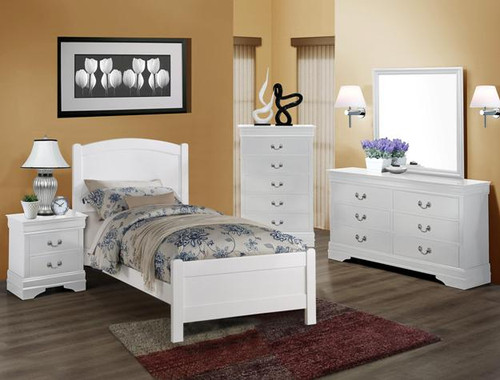 HELENE TWIN BROWN BEDROOM SET-5006-T-WH