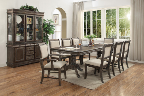 MERLOT GREY DINING TABLE TOP 5 PIECE SET-2147-TOP-GY