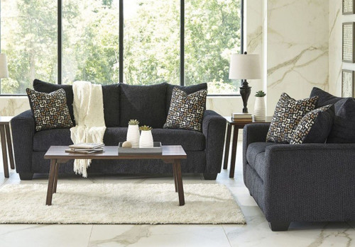 WIXON SLATE COLLECTION SOFA AND LOVE SEAT 2 PCS SET-57002-38-35