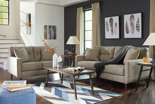 CHENTO JUTE COLLECTION SOFA AND LOVE SEAT 2 PCS SET-62802-38-35