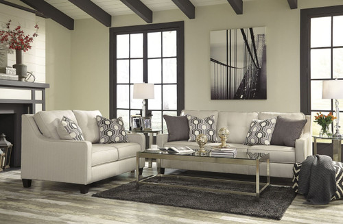GUILLERNO ALABASTER COLLECTION SOFA AND LOVE SEAT 2 PCS SET-71801-38-35