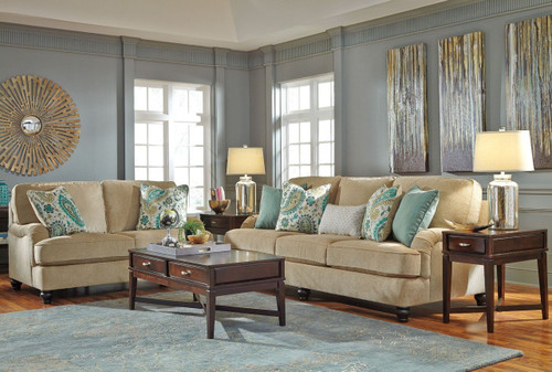 LOCHIAN BISQUE COLLECTION SOFA AND LOVE SEAT 2 PCS SET-58100-38-35
