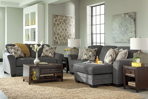 BRAXLIN CHARCOAL COLLECTION SOFA CHAISE AND LOVE SEAT 2 PCS SET-88502-18-35