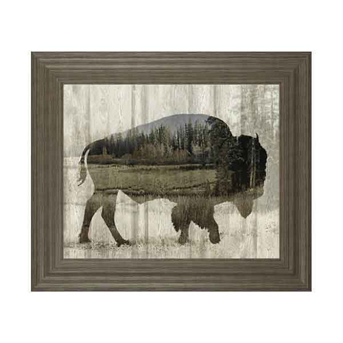 CAMOUFLAGE ANIMALS-BISON BY TANIA BELLO 22x26