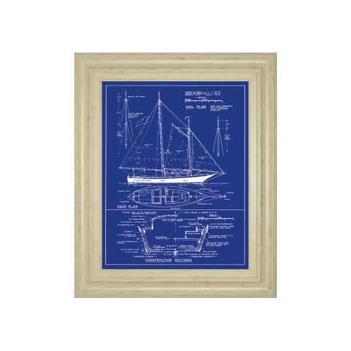 YACHT DESIGN BY THE VINTAGE COLLECTION 22x26