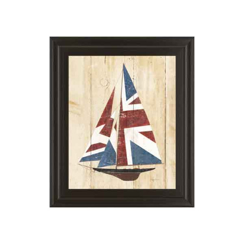 BRITISH FLAG SAILBOAT 22x26