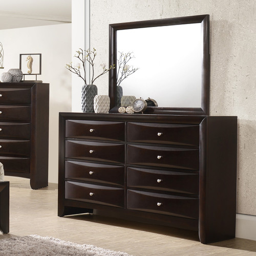 EMILY DRESSER 8 DRAWERS DARK CHERRY-B4260/1