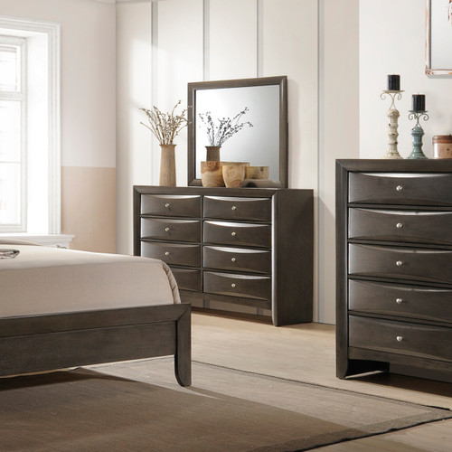 EMILY DRESSER 8 DRAWERS GREY-B4270/1