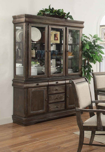 MERLOT CHINA HUTCH GREY-2147/H