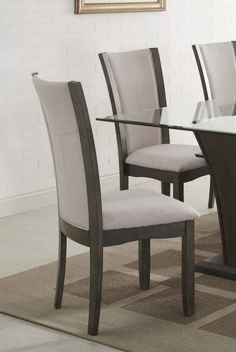 CAMELIA SIDE CHAIR GREY 2 PCS SET-1210GY/S