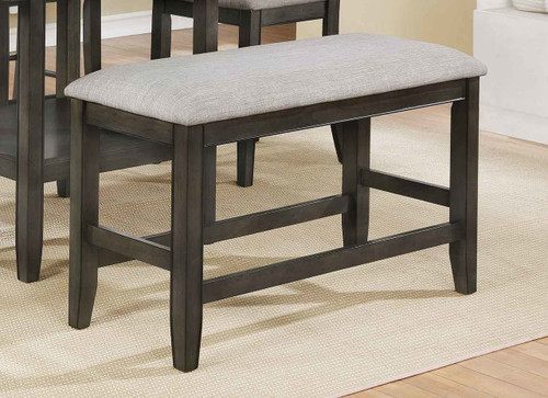 FULTON COUNTER HEIGHT BENCH GREY-2727GY/BENCH