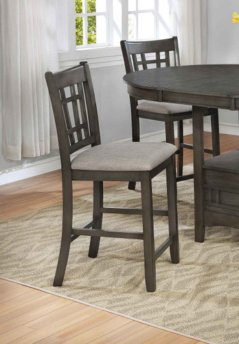HARTWELL COUNTER HIGH CHAIR GREY 2 PCS SET-2795GY-S-24
