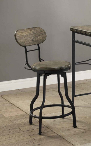 KENNETH SWIVEL COUNTER HEIGHT STOOL 2 PCS SET-1773S-24